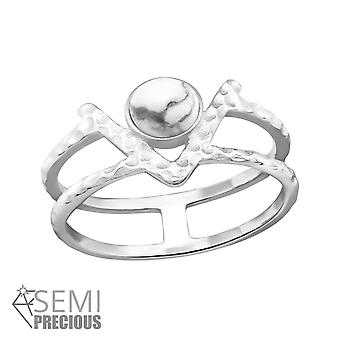 Double Line - 925 Sterling Silver Jewelled Rings - W32352X