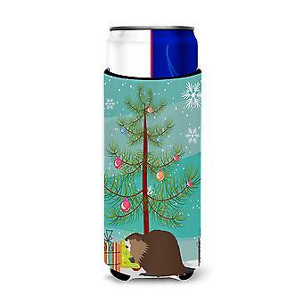 Eurasian Beaver Christmas Michelob Ultra Hugger for slim cans