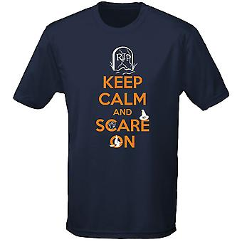 Keep Calm And Scare On Costume Fancy Dress Halloween Kids Unisex T-Shirt 8 Colours (XS-XL) by swagwear