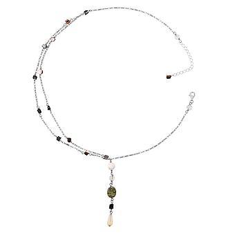 Orphelia Silver 925 halsband 43Cm med Colered stenar ZK-2585