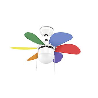 Ceiling fan BORACAY Multicolor with lighting 76cm / 30