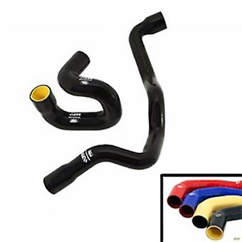 Ford Racing 2363-CHK-BLU Mountune Coolant Hose Kit; Incl. 2 Hoses; Hose Wipe; Requires New Hose Clamps; Silicone; Blue;