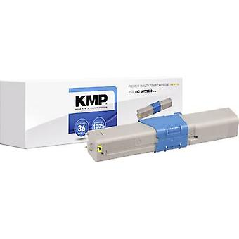 KMP Toner cartridge replaced OKI 44973533 Compatible Yellow 1500 Sides O-T39