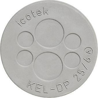 Icotek KEL-DP 50/16 Cable grommet Terminal Ø (max.) 11.3 mm Elastomer Grey 1 pc(s)