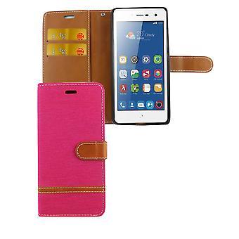 Torba do ZTE blade L7 dżinsy telefon komórkowy Etui ochronne etui różowy
