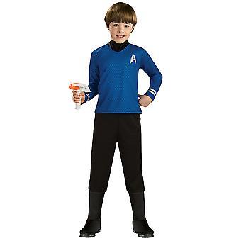 Kaptajn Spock Deluxe Star Trek film blå skjorte Space Explorer drenge kostume Madsen