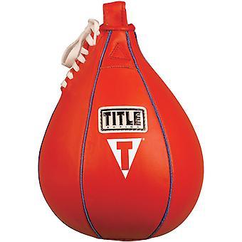 Titel boxning hastighet läderväska - små (6
