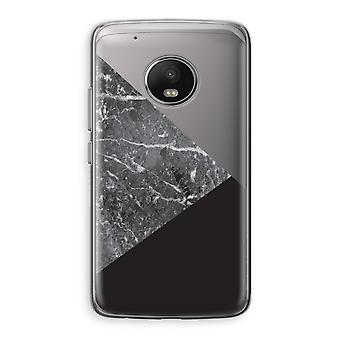 Motorola Moto G5 boîtier Transparent (doux) - combinaison de marbre