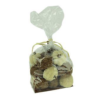 Bag of Natural Brown and Beige Dried Angel Vine Decorative Pumpkins