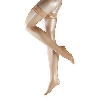 Falke Pure Matte 20 Denier Transparent Matte Stay Up Stockings - Powder Tan