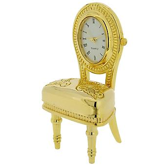 Gift Time Products Plush Chair Mini Clock - Gold
