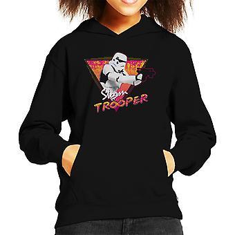 Felpa con cappuccio originale Stormtrooper Retro onda 80s Kid