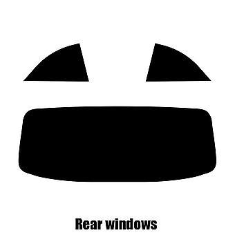 Pre cut window tint - Fiat 500 Cabriolet - 2009 to 2016 - Rear windows