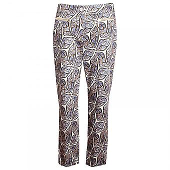 Marie Mero Ethnic Print Cotton Trousers
