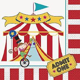 Los niños del circo divertido fiesta servilletas 33 x 33 cm 16 pieza circo cumpleaños decoración del partido