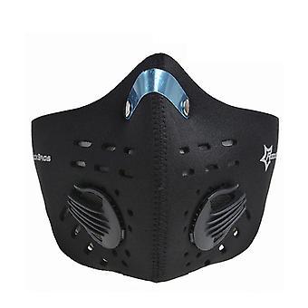 Exercise mask-limiting oxygen intake-black