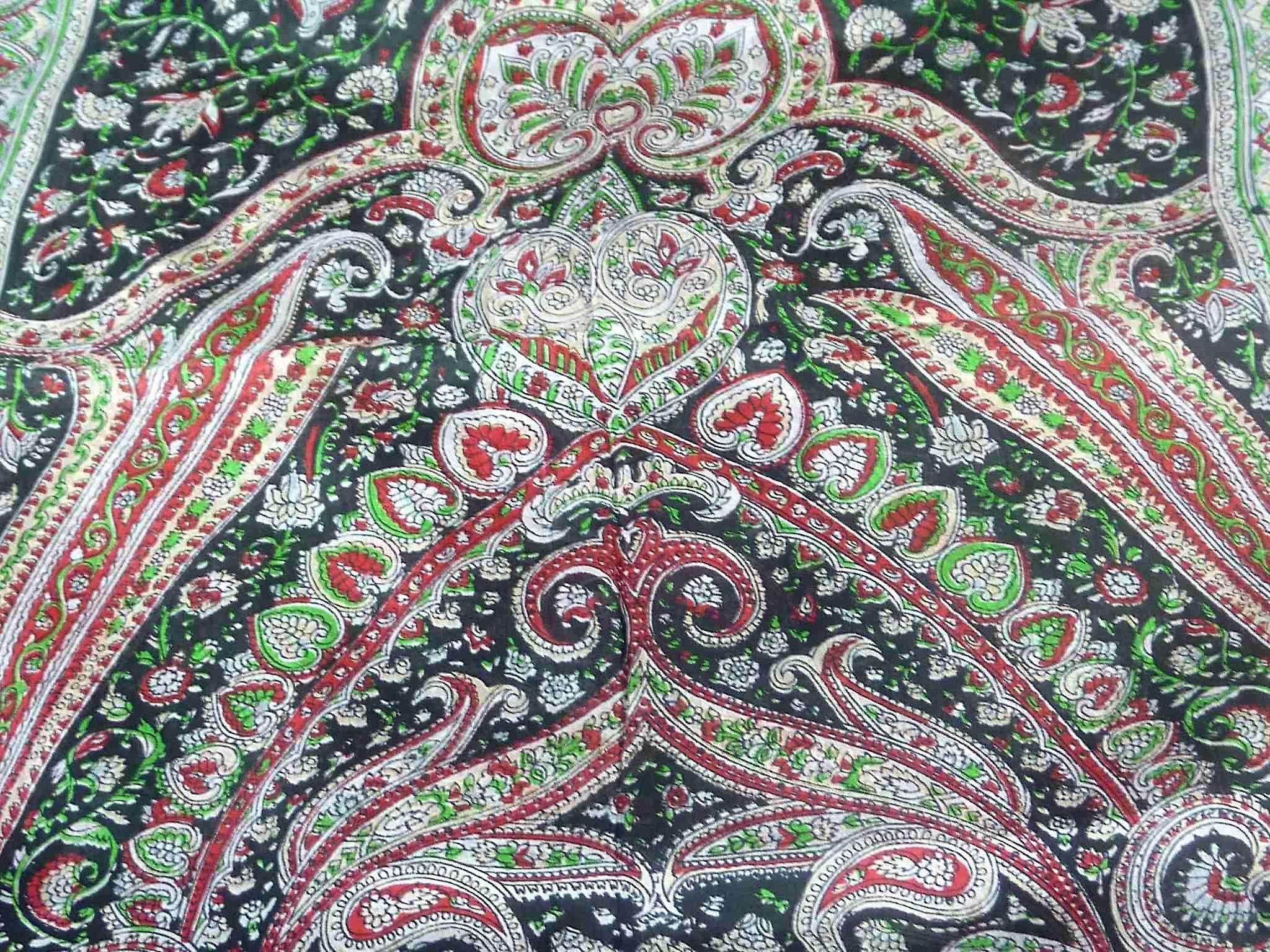 Mulberry Silk Traditional Long Scarf Raxaul Black by Pashmina & Silk