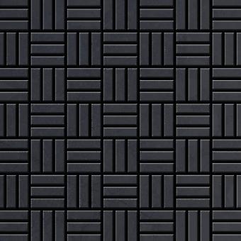 Metal mosaiikki raaka teräs seos Basketweave-r