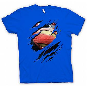 Herr T-shirt - nya Super Man kostym - superhjälte slet Design