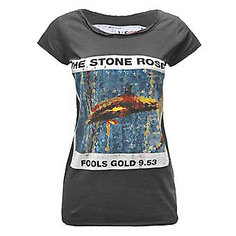 Amplified Stone Roses Fools Gold 9.53 Women's T-Shirt Charcoal