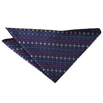 Violetti, sininen & vaaleanpunainen chequered Polka Dot Pocket Square