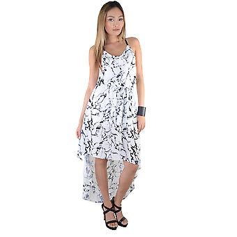 De pure Maxi jurk Lovemystyle wit met zwart marmeren Effect - monster