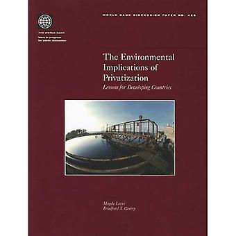 De milieu-impact of Privatization: lessen voor ontwikkelingslanden