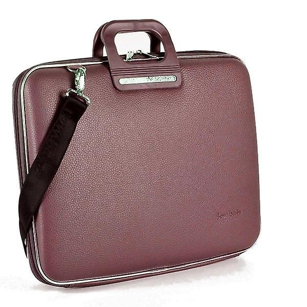 Bombata Bag Firenze Briefcase for 17 Inch Laptop by Fabio Guidoni - Brown