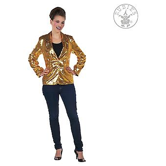 Vestuario de la mujer chaqueta de brillo para damas de oro
