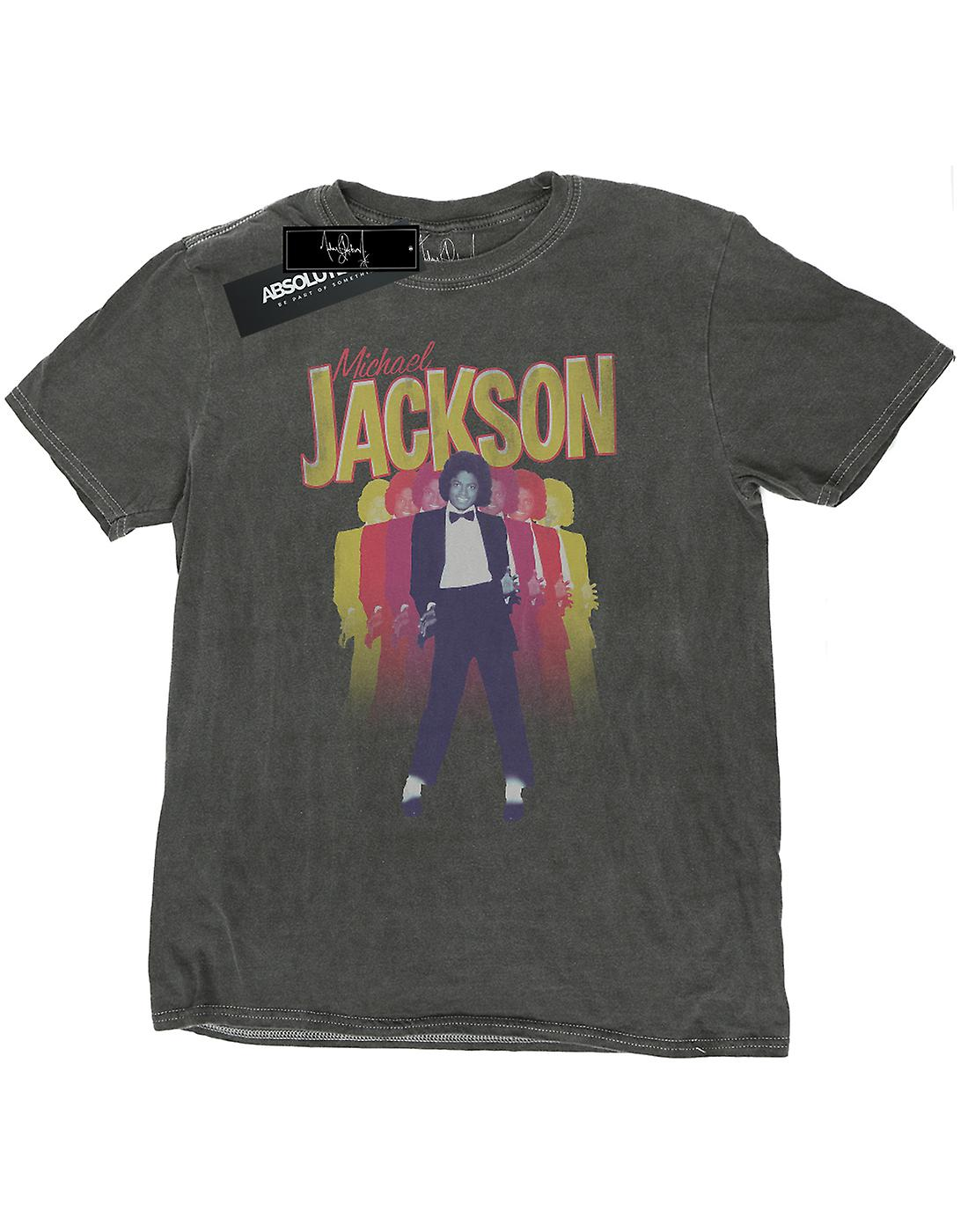 Michael Jackson Men's Repeat Fade Washed T-Shirt