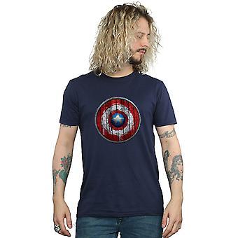 Bewundern Sie Captain America Holzschild T-Shirt für Männer