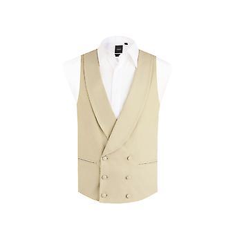 Dobell miesten kulta/buff aamulla puku liivit reg Fit huivi käänne kaksinkertainen rinnakkaisryhmitelmällä