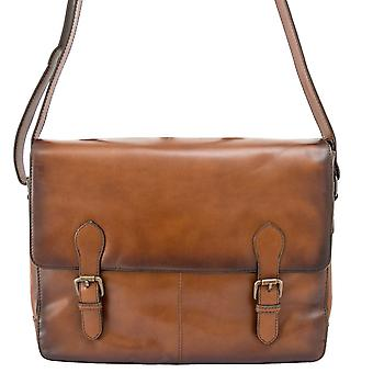 Ashwood Dorchester Ernest Leather Messenger Bag
