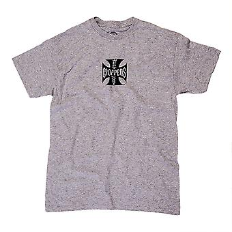 West Coast choppers mens T-Shirt cross ATX grey/black