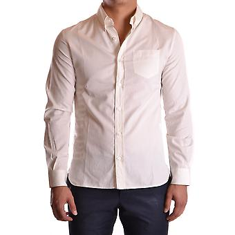 John Galliano Ezbc164042 Men's White Cotton Shirt