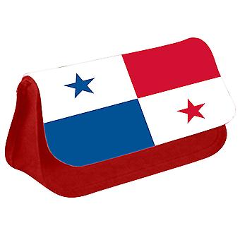Panama Flag Printed Design Pencil Case for Stationary/Cosmetic - 0135 (Red) by i-Tronixs