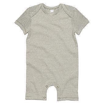BabyBugz Unisex Bebek Kısa Kollu Çizgili Bodysuit