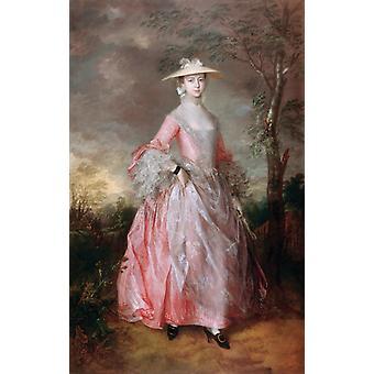 Countess Howe, Thomas Gainsborough, 60x38cm