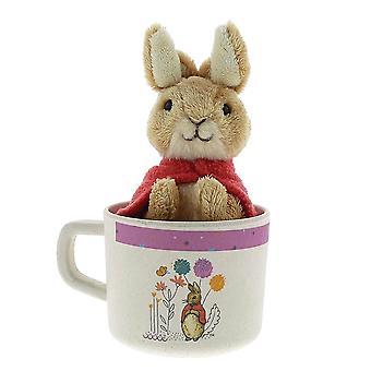 Children's Beatrix Potter biologische mok en soft Toy set