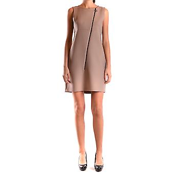 One Ezbc267011 Women's Beige Wool Dress