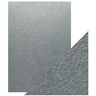 Craft Perfect by Tonic Studios A4 Luxury Embossed Card Ice Grey Glacier | Pack of 5
