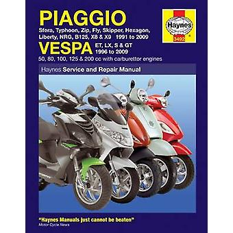 Piaggio and Vespa Scooters (with Carburettor Engines) Service and Rep