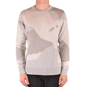 Woolrich Ezbc033050 Men's Grey Viscose Sweater