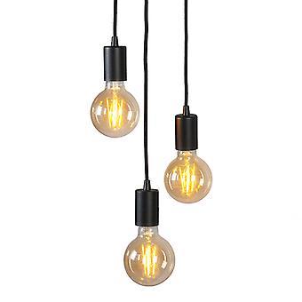QAZQA Industrial Pendant Lamp Black - Facil 3