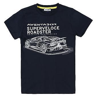 Lamborghini Kids Automobili Lamborghini Aventador SV Roadster T-Shirt,Blue