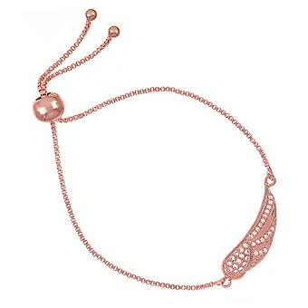 Bracelet belle et Belle Rose Gold Plaqué Crystal Angel Wing
