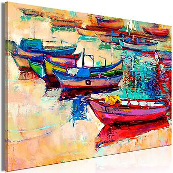Canvas Print - Boats (1 Part) Wide