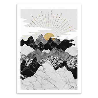 Pôster de Arte - Sun Rise - Kookie Pixel