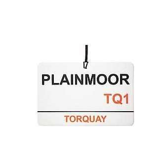 Torquay / Plainmoor Stadium Street Sign Car Air Freshener
