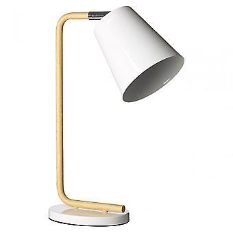 Premier Home Bruin bordslampa, trä, vit